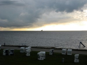Gewitterfront zieht über die Nordsee